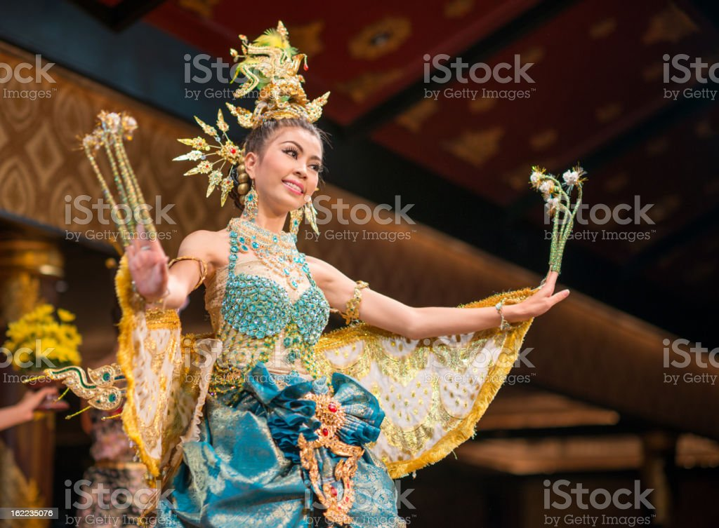 Traditional Thai Dance, Songkran Festival, Thailand stock photo