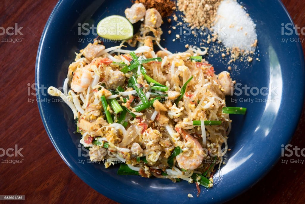 Traditional Thai Fried Noodles or Thai name is Pat Thai royalty-free stock photo