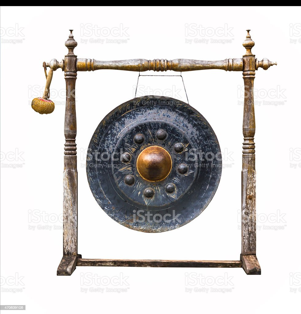 Traditional thai gong stock photo