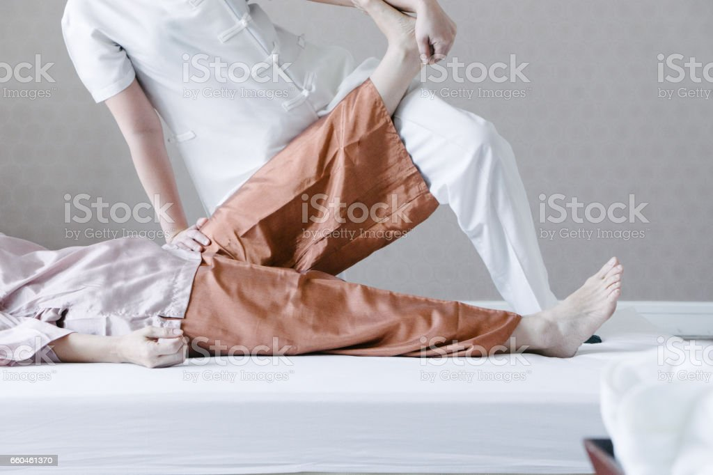 Traditional thai massage stock photo
