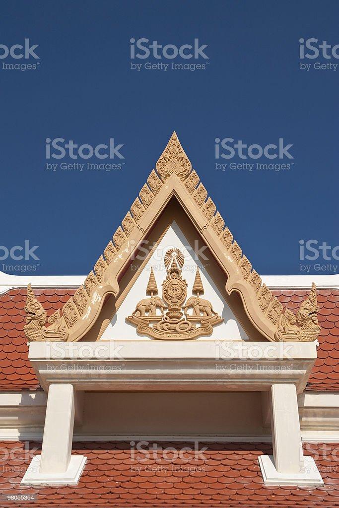 전통 태국 스타일 건축양상 royalty-free 스톡 사진