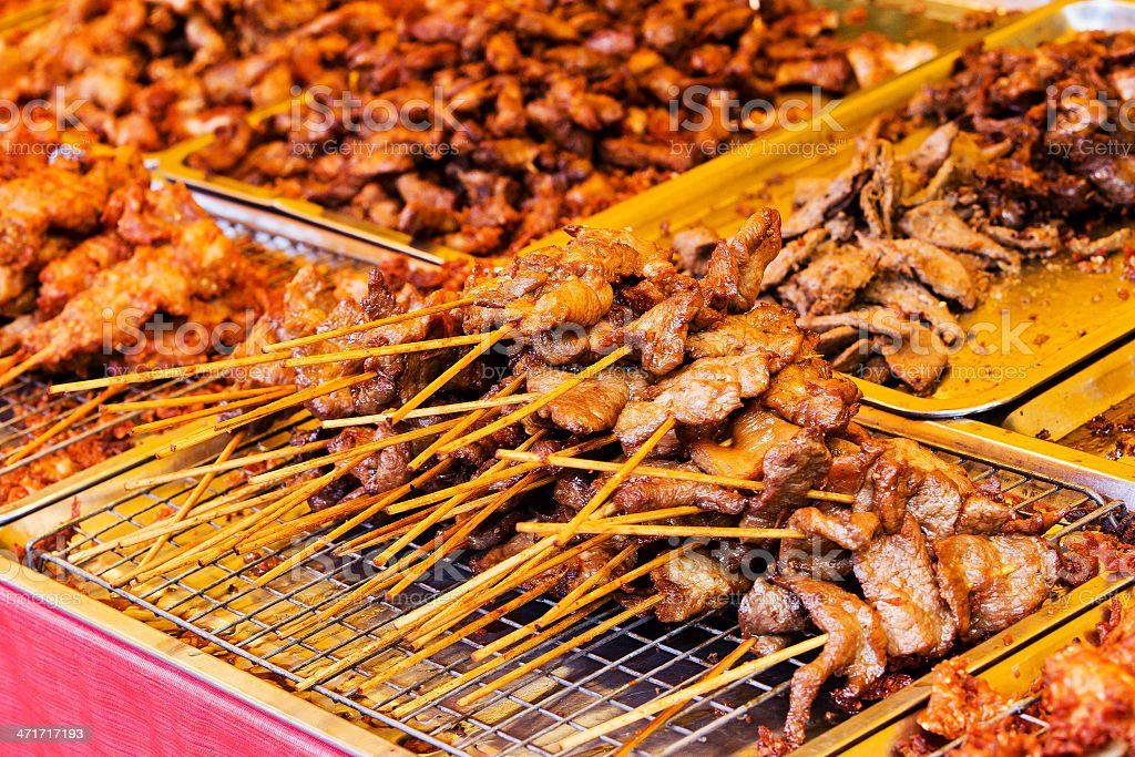 Traditional Thai style grilled pork royalty-free stock photo