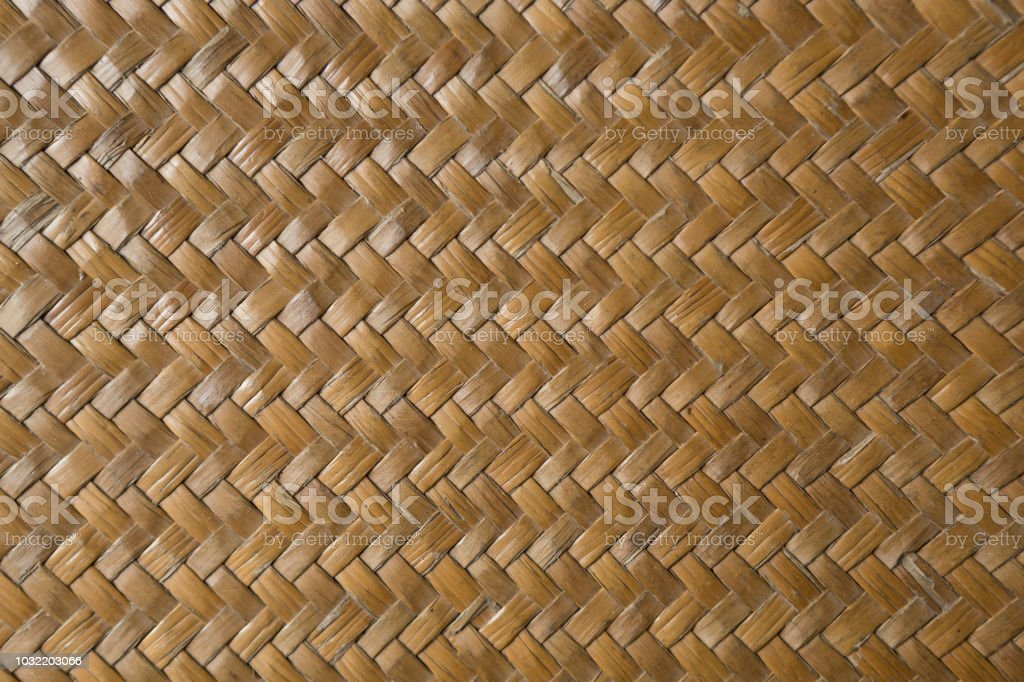 traditional thai style pattern nature background of brown handicraft...