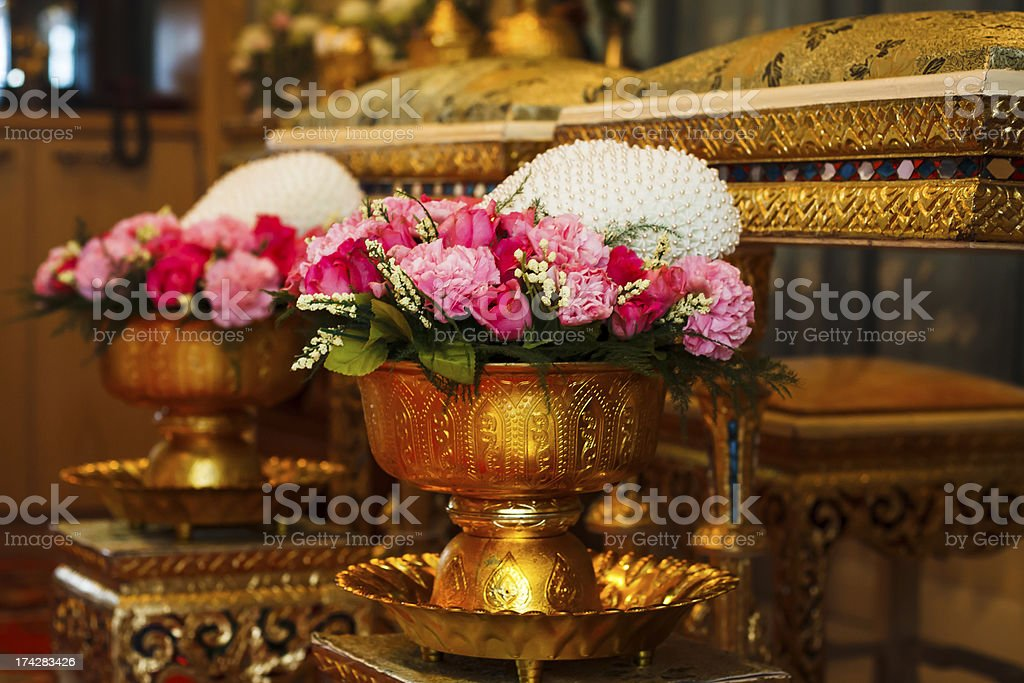 Traditional Thai Wedding stock photo