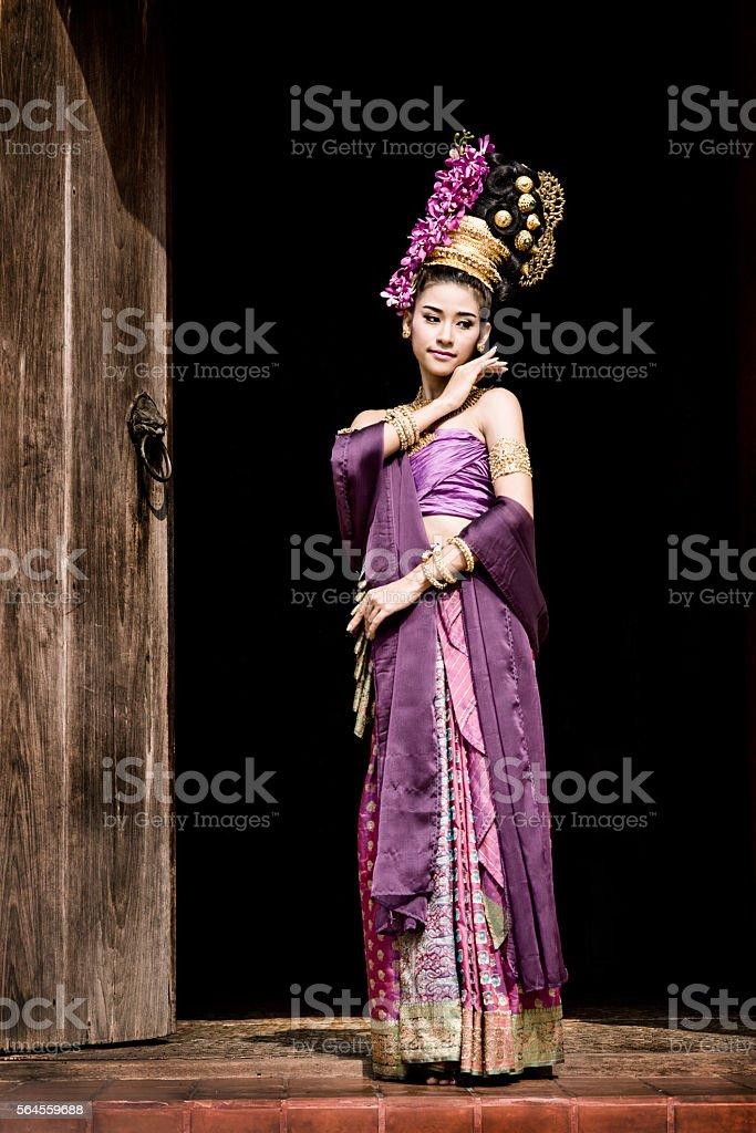 Traditional Thai Woman stock photo
