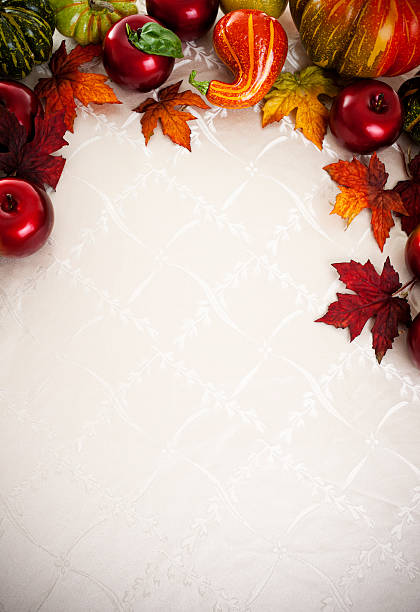 Traditional Thanksgiving, Autumn Holiday Background stock photo