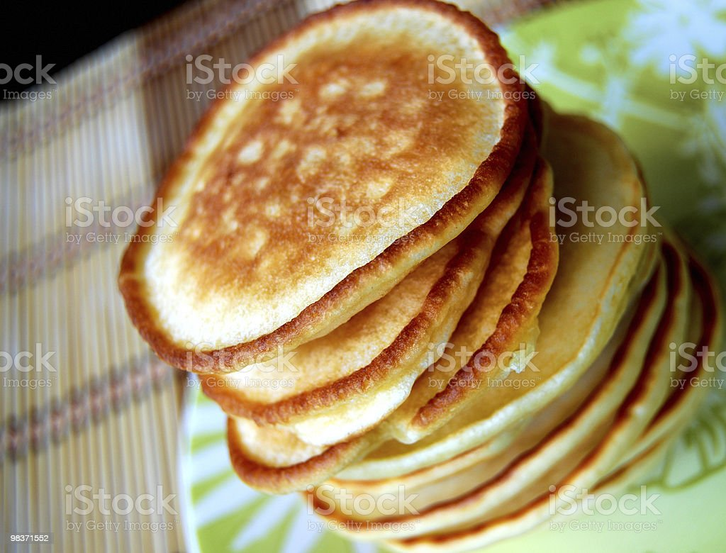 traditional thick pancakes royalty-free stock photo