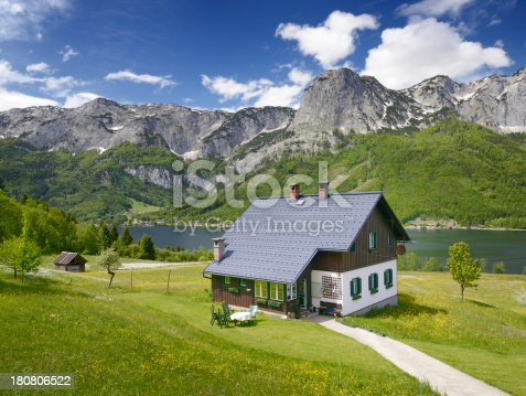istock Traditional Timbered country house, Lake Grundlsee, Austria 180806522