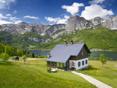 Traditional Timbered country house, Lake Grundlsee, Austria