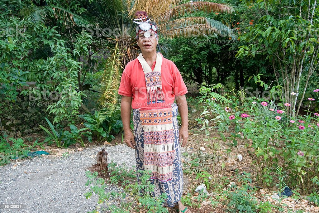 Traditional Timorese Tribal Chief from Indonesia. royalty-free stock photo