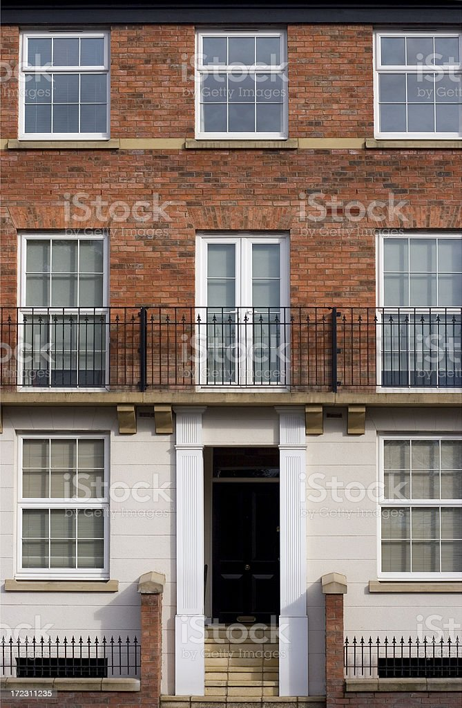 Traditional town house stock photo