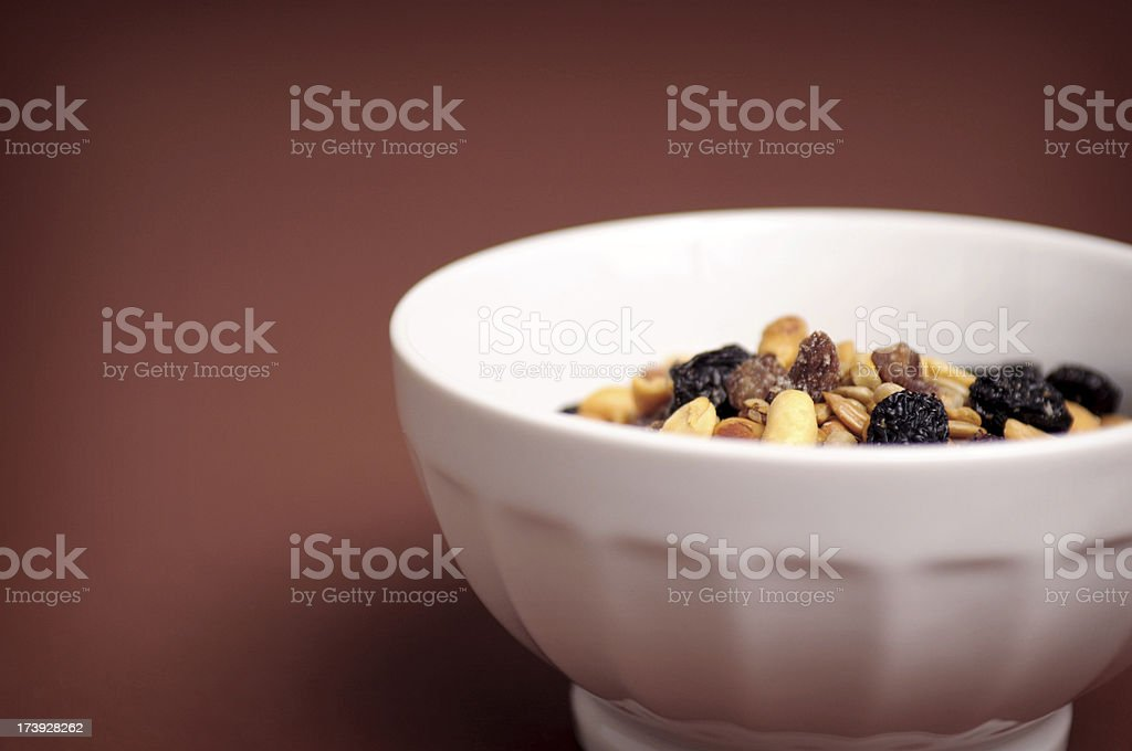 Traditional Trail Mix in a Bowl royalty-free stock photo