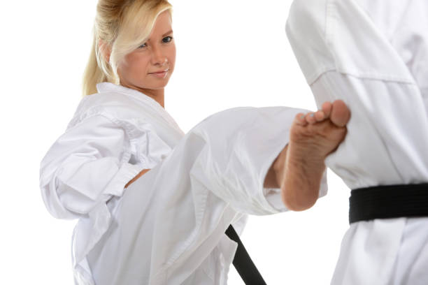 traditional training and exercise - karate stock photos and pictures