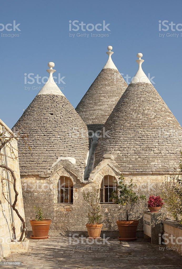Traditional Trulli house near Locorotondo, Puglia, Italy stock photo