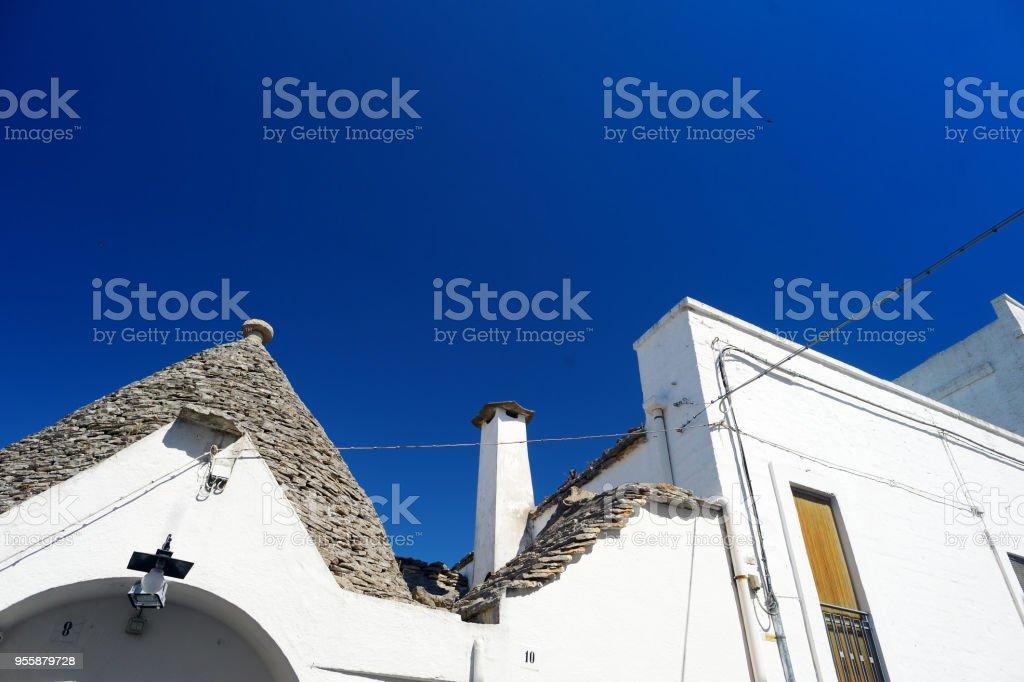 Traditional trulli houses in Alberobello stock photo