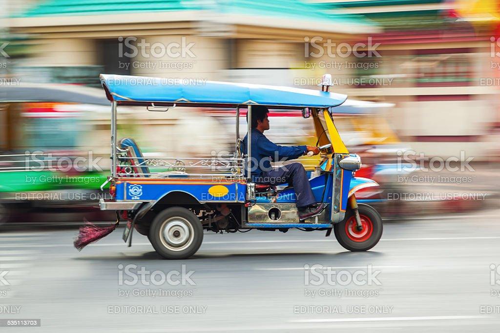 traditional tuktuk in Bangkok stock photo