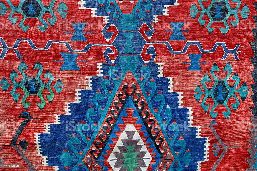 Traditional Turkish carpet royalty-free stock photo