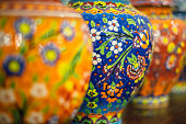 Classical turkish ceramic decoration for souvenir on the market