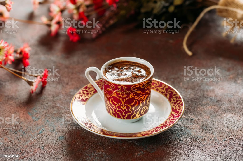 Traditional Turkish Coffee zbiór zdjęć royalty-free