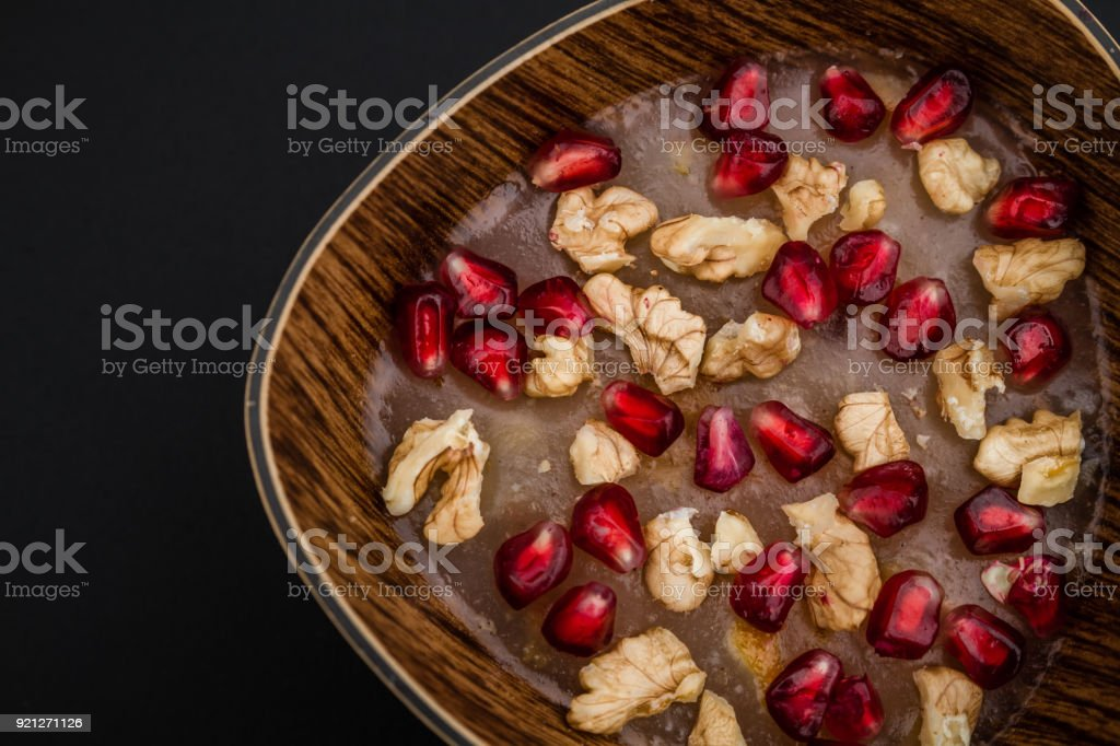 Traditional Turkish Dessert Ashura stock photo