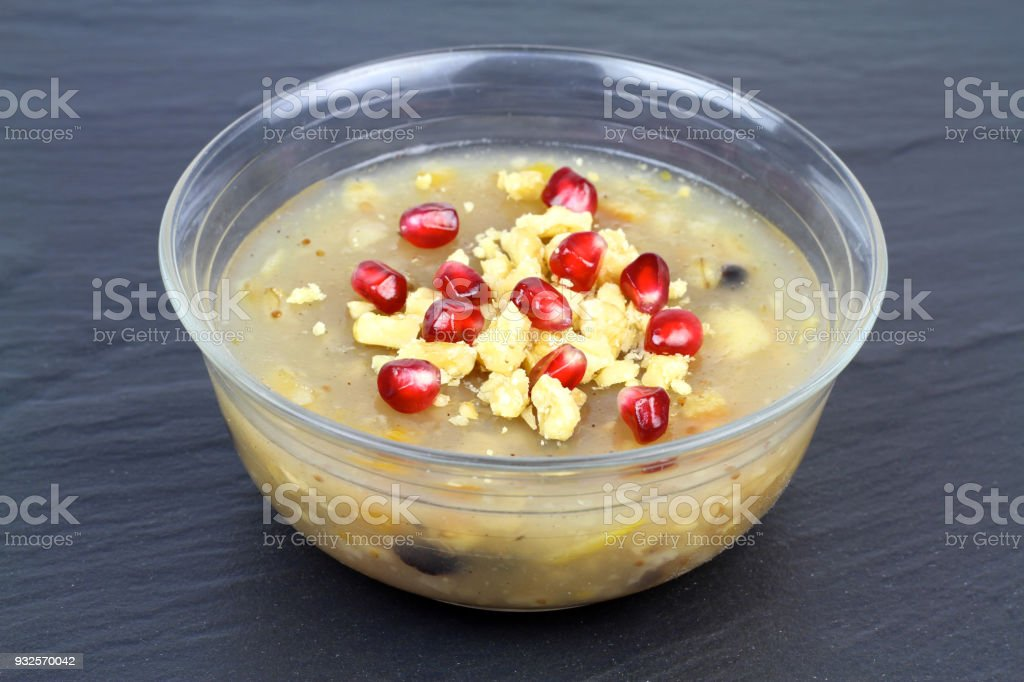Traditional Turkish dessert ' Ashura' ( Noah's pudding ) stock photo
