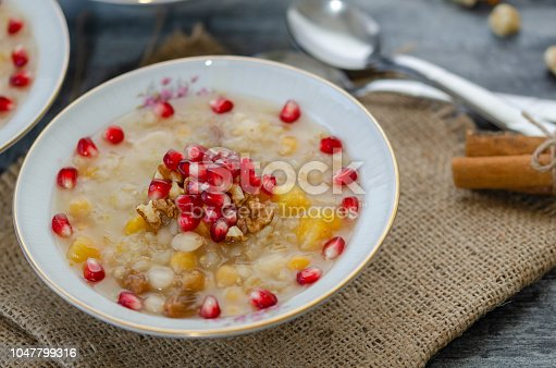 618202484 istock photo Traditional Turkish Dessert Ashure or ashura 1047799316