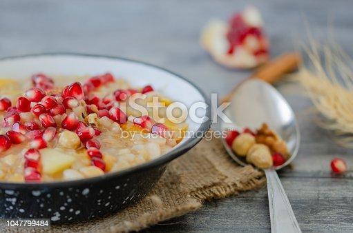 618202484 istock photo Traditional Turkish Dessert Ashure or ashura 1047799484