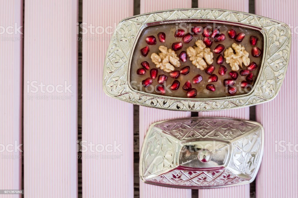 Traditional Turkish Dessert Ashure stock photo