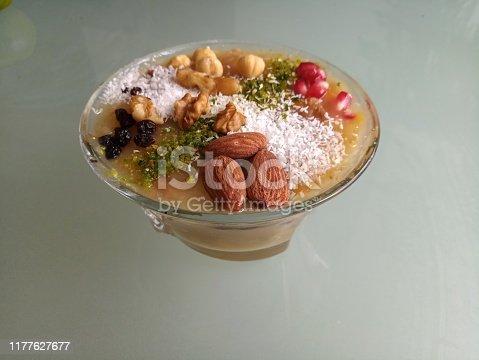 461848151 istock photo Traditional turkish dessert asure in istanbul turkey 1177627677