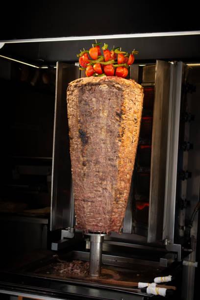 Traditional Turkish Doner Kebab grill stock photo