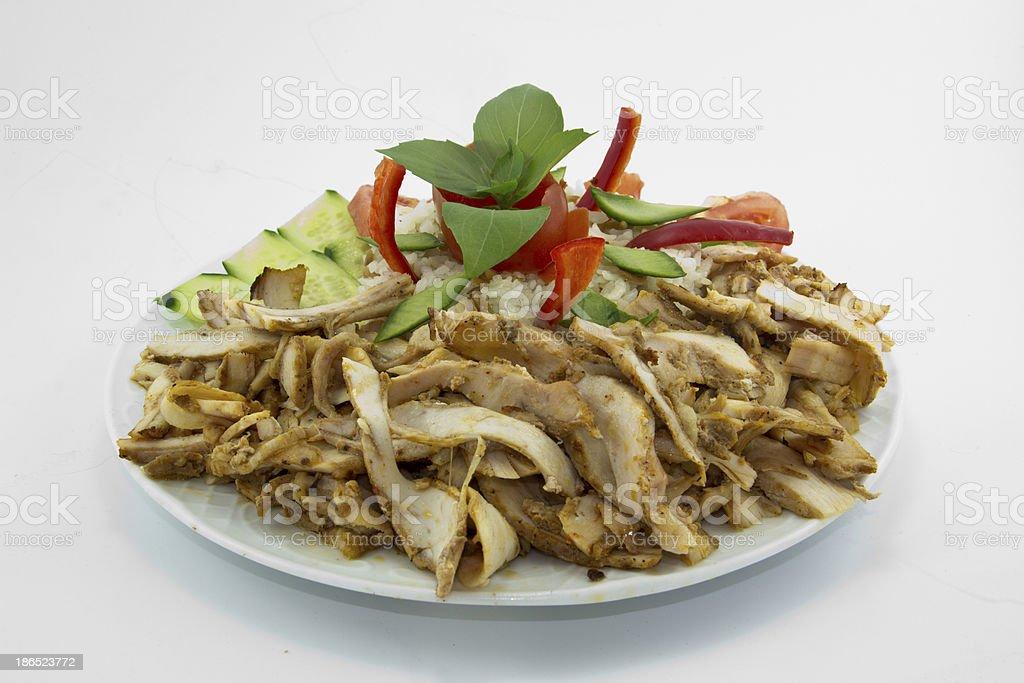 Traditional Turkish food doner kebab. royalty-free stock photo