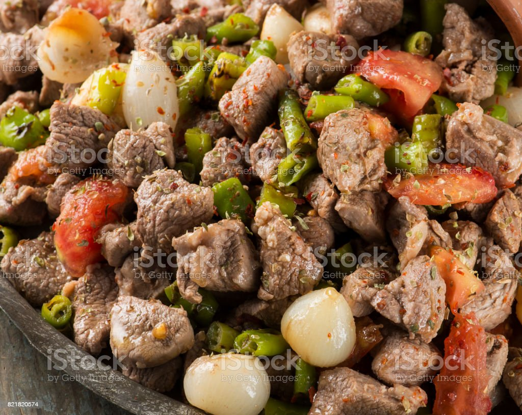 Traditional Turkish food:Guvec stock photo