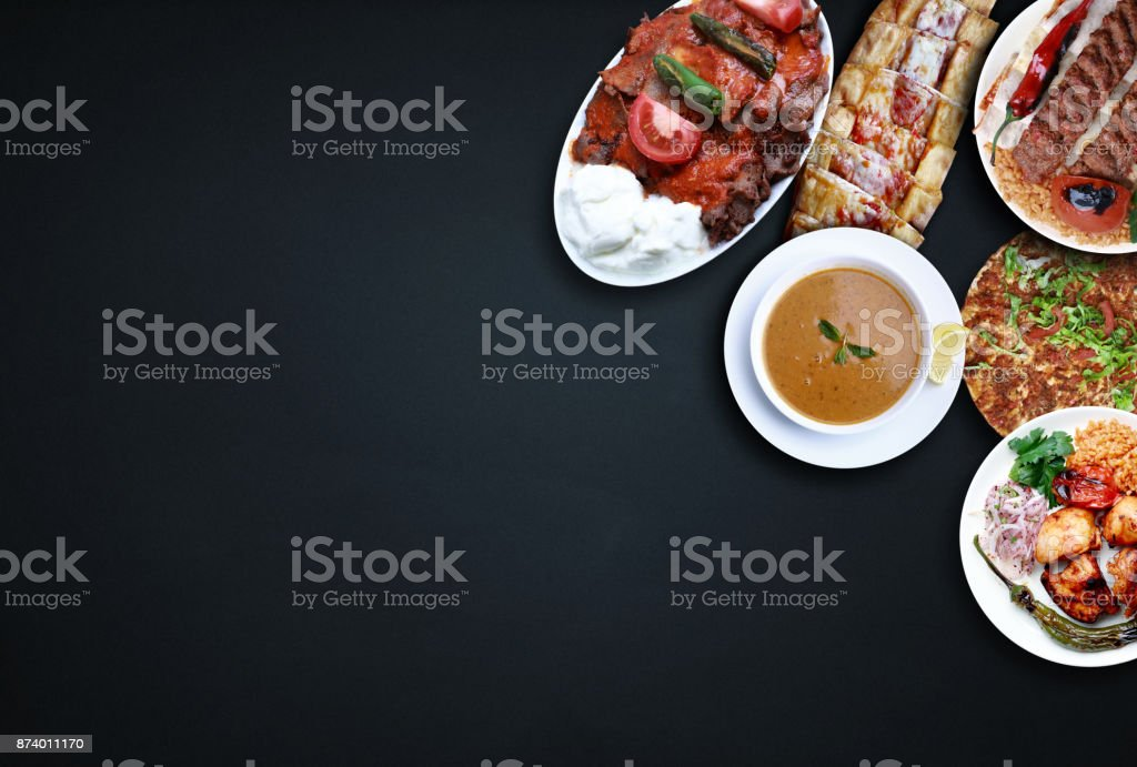 Traditional Turkish foods stock photo