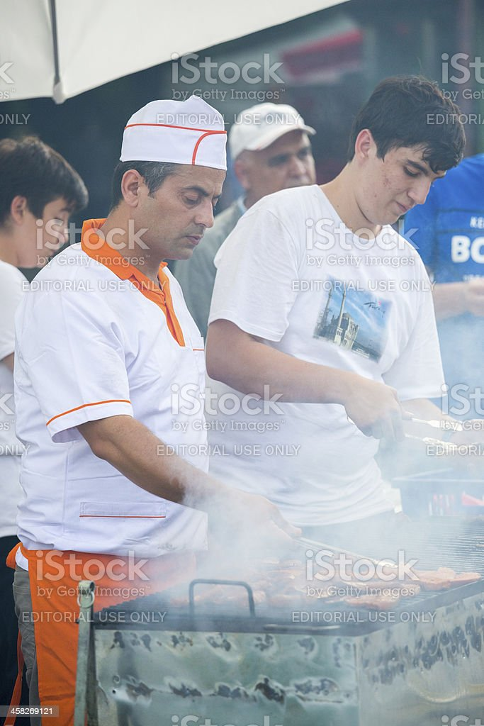 Traditional Turkish grill royalty-free stock photo