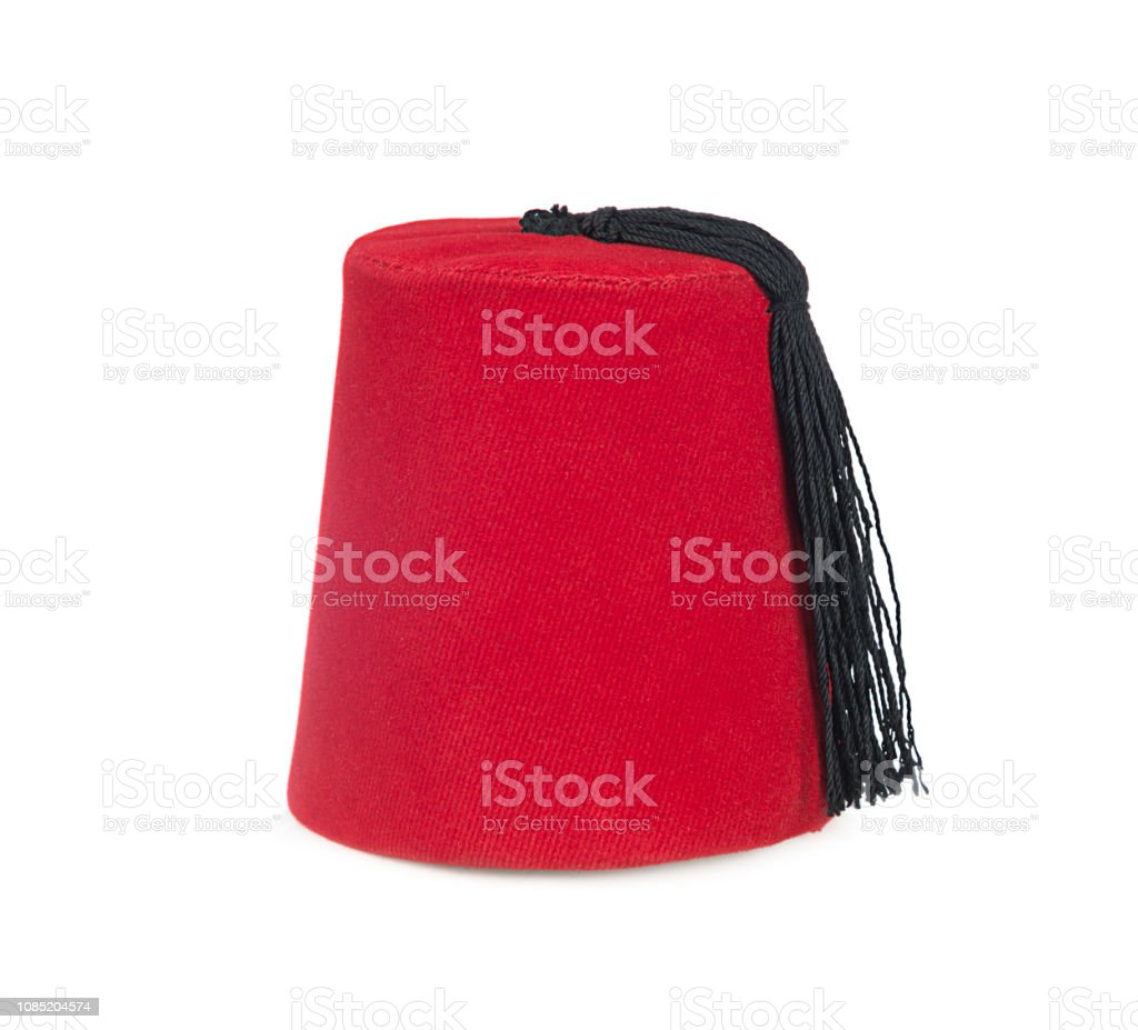 Traditional Turkish Hat Called Fez Isolated Stock Photo