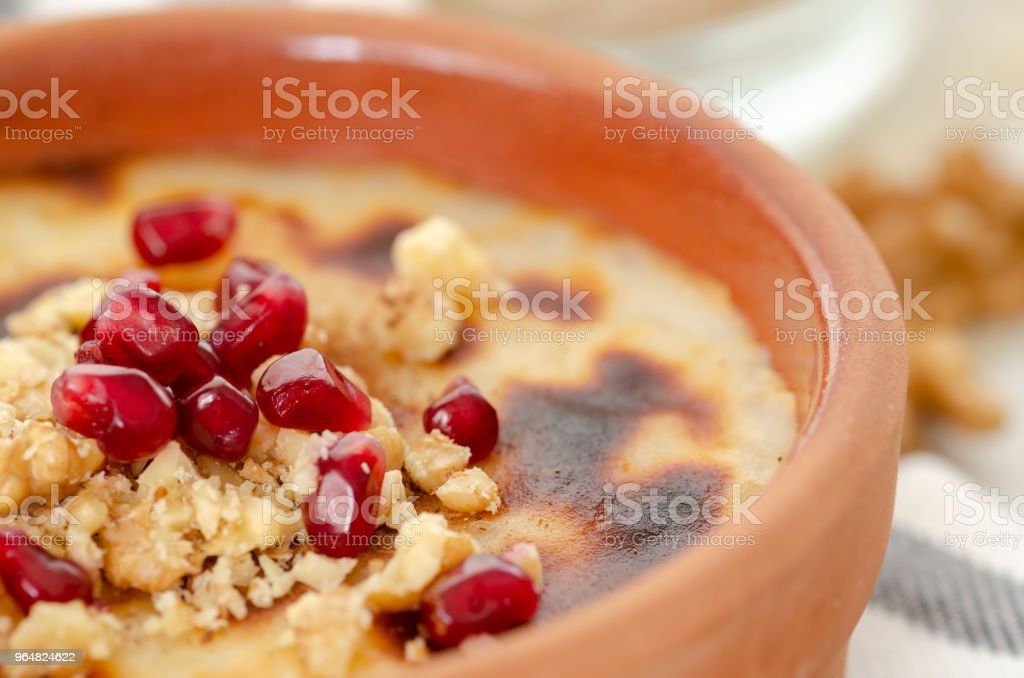 Traditional Turkish oven rice pudding royalty-free stock photo