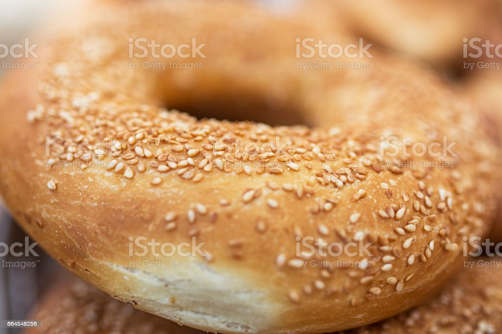 Traditional Turkish round Bagel with sesame seeds. royalty-free stock photo