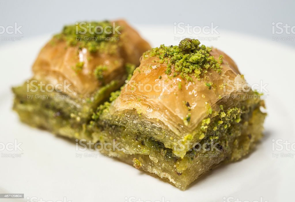 Traditional turkish sweets  - baklava stock photo