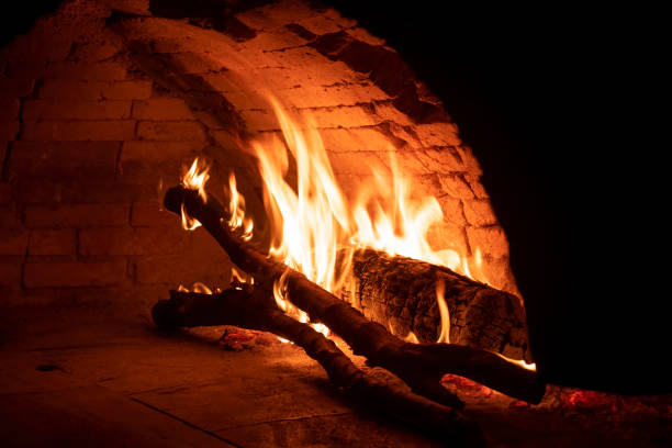 Traditional Turkish Wood Fired Oven stock photo