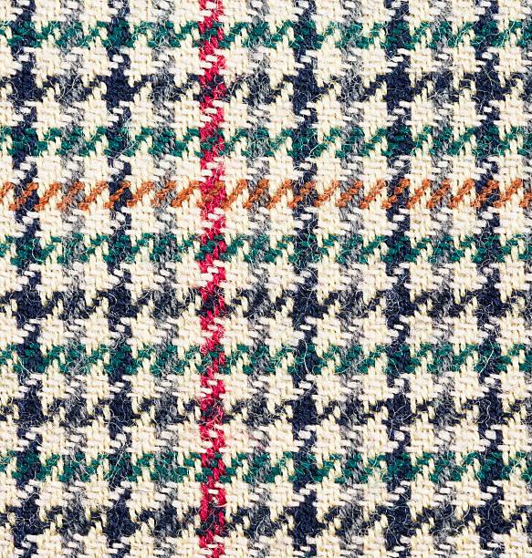 traditioneller tweed-muster, makro - kariertes hintergrundsbild stock-fotos und bilder