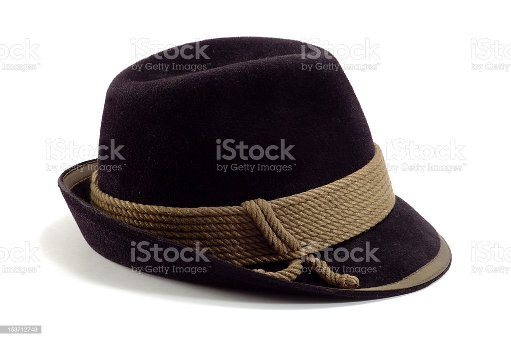 Traditional tyrolean hat on white background royalty-free stock photo