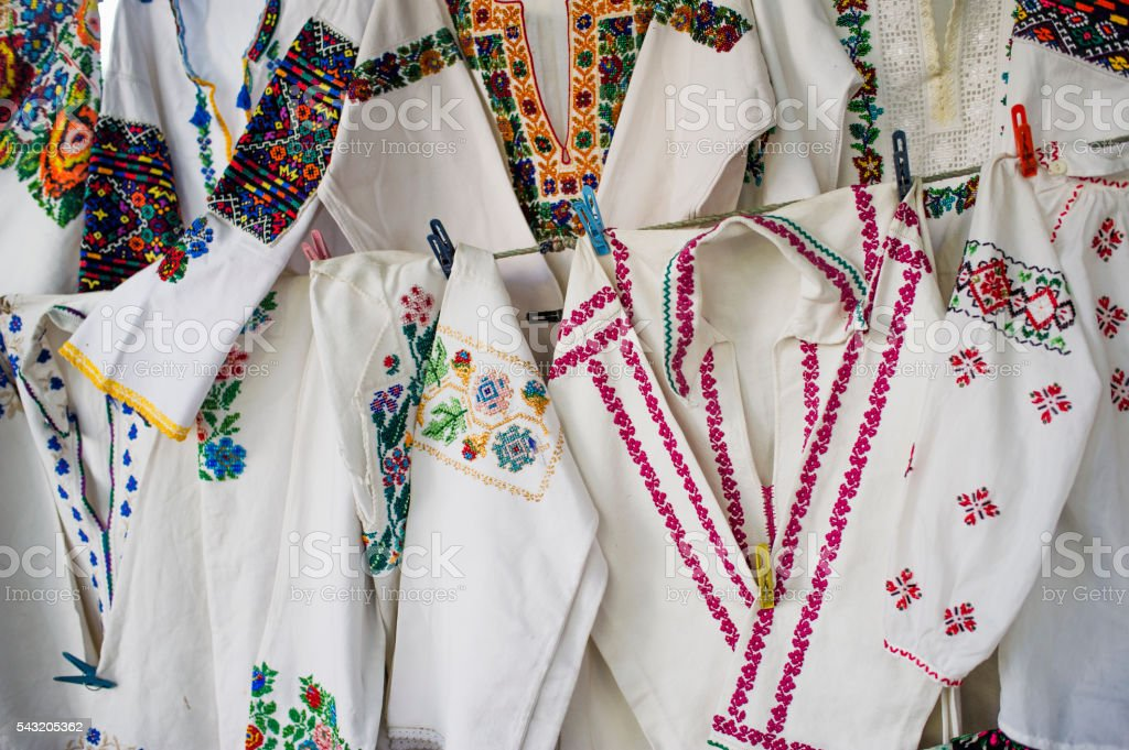 Traditional Ukrainian Clothes  Ukraine stock photo