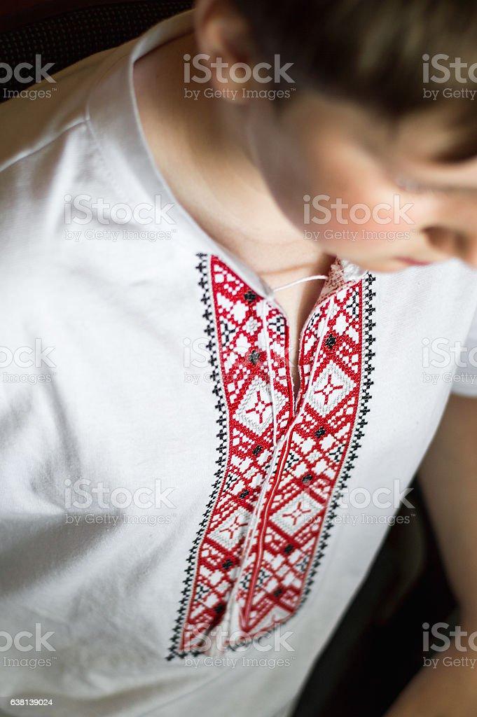 Traditional Ukrainian embroidery stock photo