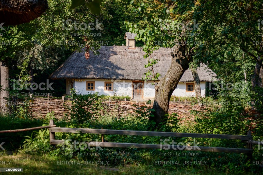 Traditionelle Ukrainische house – Foto