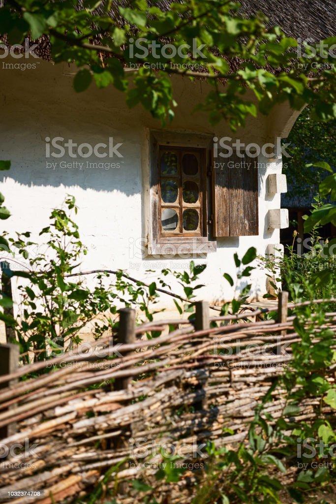 Traditional Ukrainian housing close-up stock photo