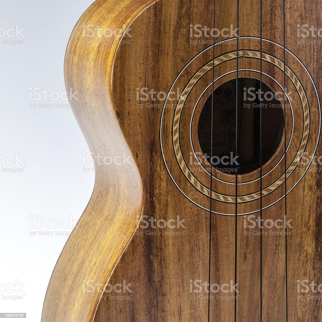 Traditional ukulele stock photo