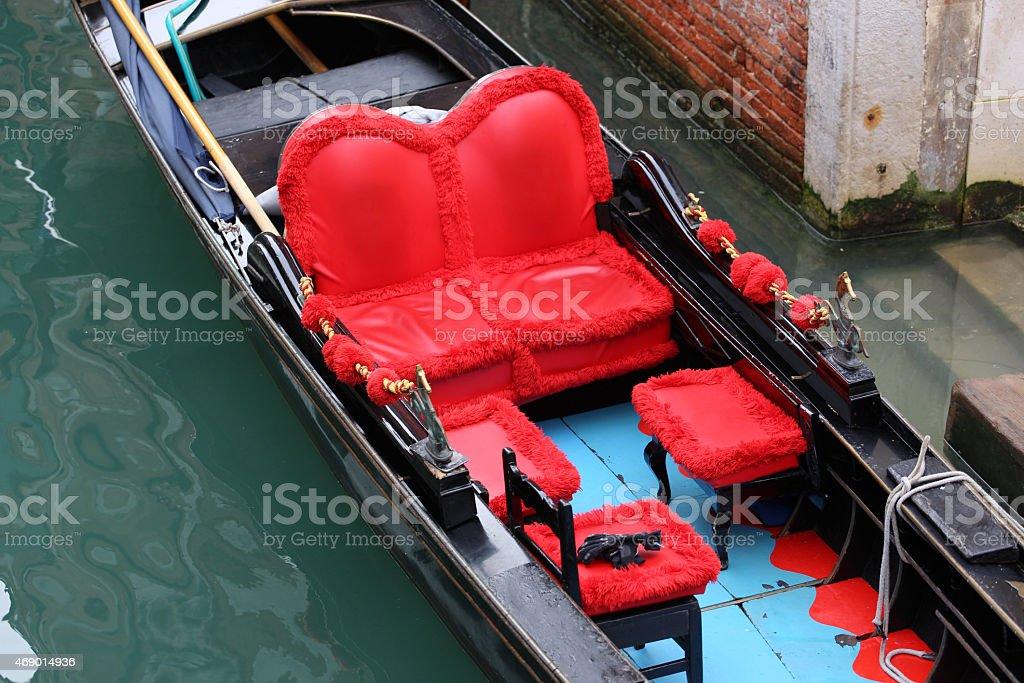 Traditional Venice gondolas stock photo