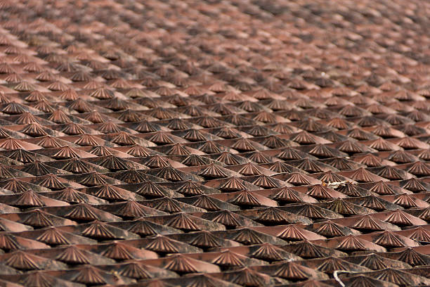 Traditional Vietnamese Roof Tiles stock photo