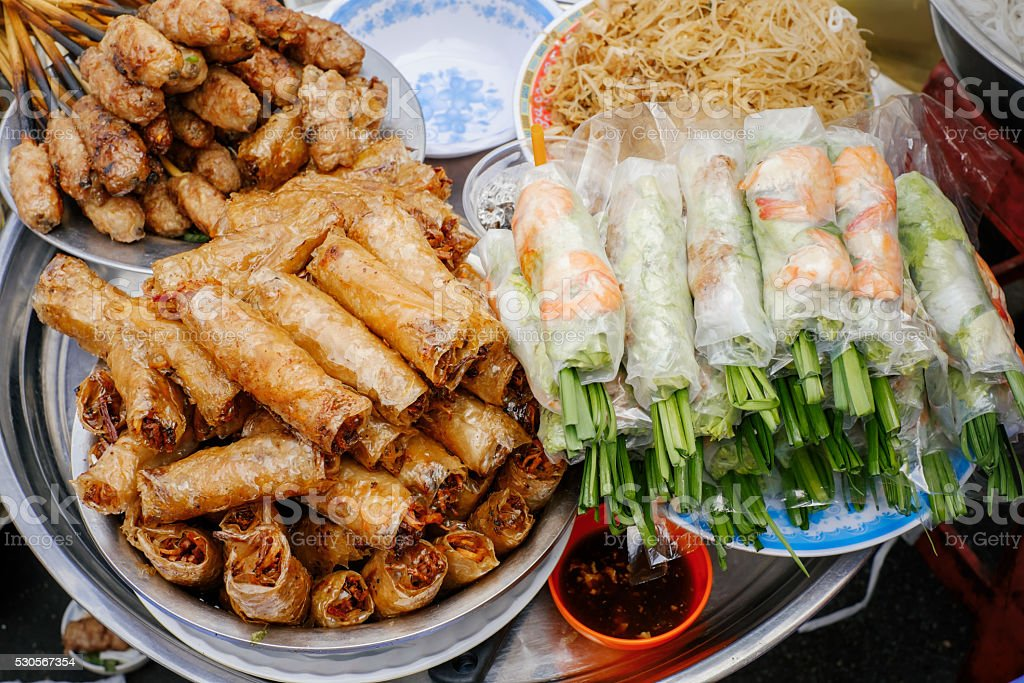 Traditional vietnamese street food stock photo