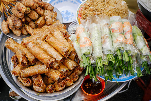 Traditional vietnamese street food stock photo